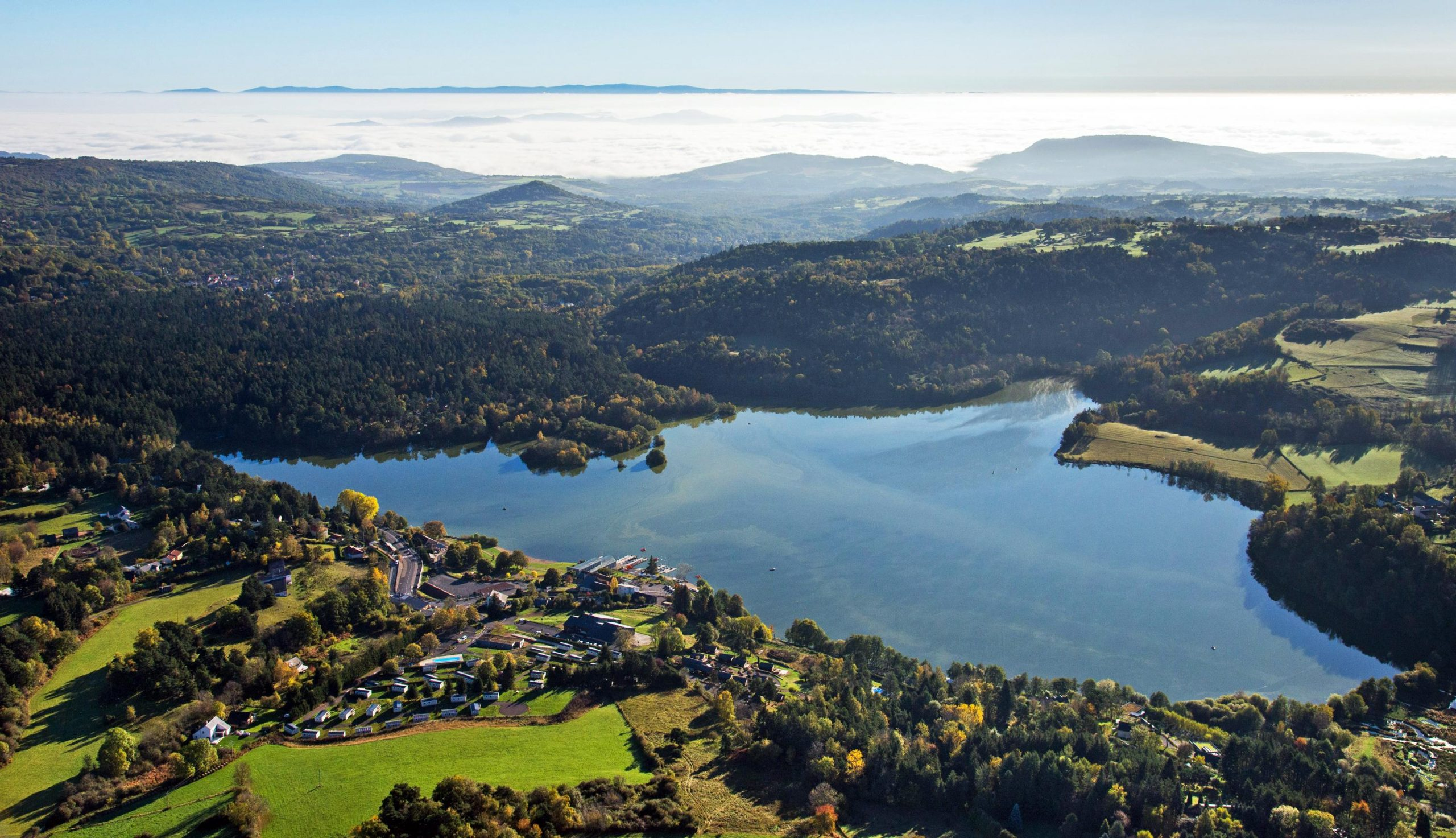 Aydat Lake in Auvergne