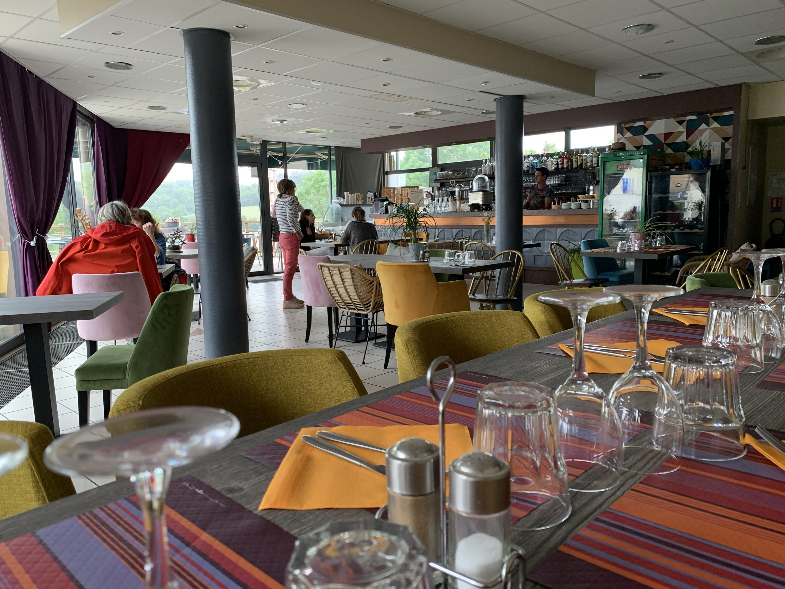 Restaurant in front of the Lake Aydat in Auvergne
