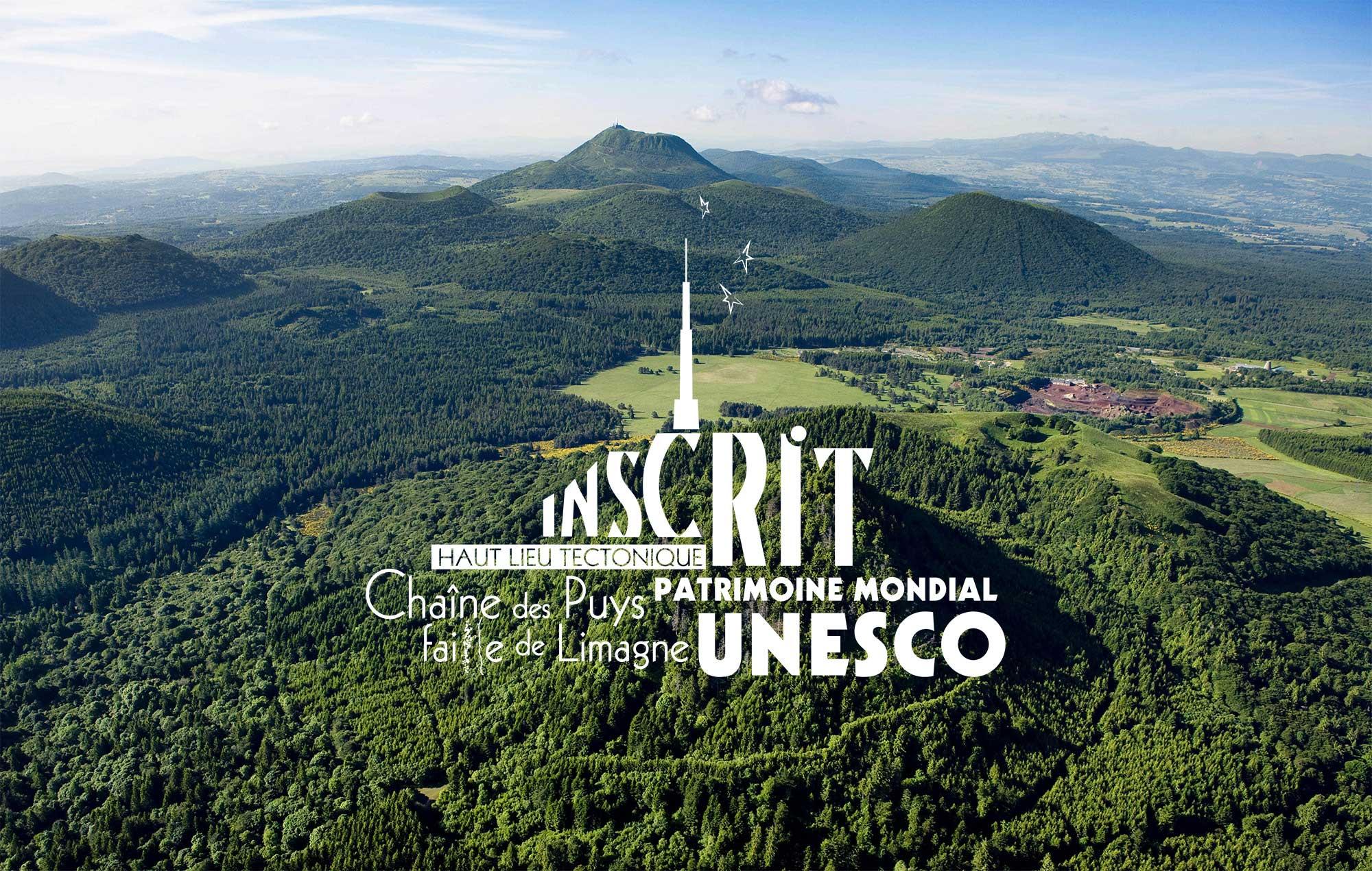 Chaîne des Puys Faille de la Limagne inscrit au patrimoine mondial de l'UNESCO